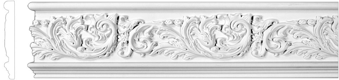 Flat Crown Molding - Plastic Flat Moulding Manufactured with a Dense Architectural Polyurethane Compound. FM-5551 Moldings. (7)