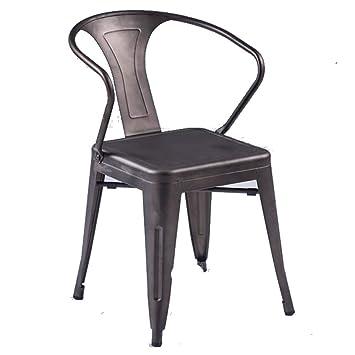 Tolix Metal Vintage Chairs Kitchen Breakfast Dining Chair Sedia Black Single