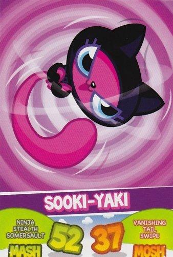 Topps No.31 Sooki-Yaki Ninjas Moshi Monsters Mash Up Trading ...