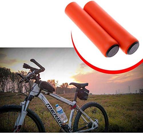 KEYkey Manija Suave de la Cubierta de Espuma de Bicicletas antipatinaje Bicicleta Grips Grips c/ómodo pu/ño del Manillar de la Bicicleta Accesorios Verde 1Pair