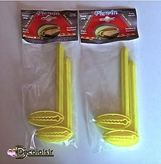 Pinzas-Toalla DE playa, diseño DE pico WIN 4 unidades, color amarillo
