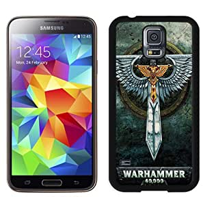 Unique Galaxy S5 Case,Durable I9600 Case Design with Warhammer 40000 Samsung Galaxy S5 SV I9600 Black Case