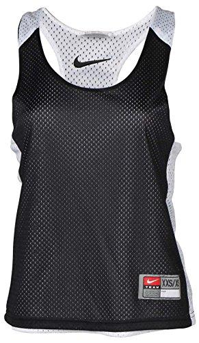 Nike Women's Reversible Mesh Racerback Lacrosse Top-Black-2XSmall (Reversible Nike Jersey)