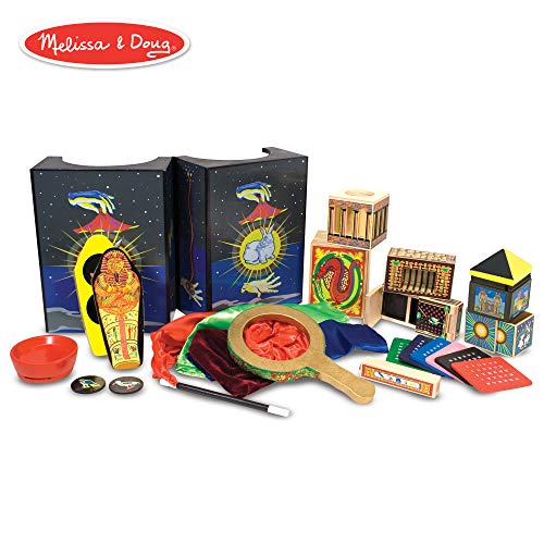 Melissa & Doug Deluxe Magic Set, Kids Magic Set, 10 Classic Tricks, Step-By-Step Instructions, 3.8