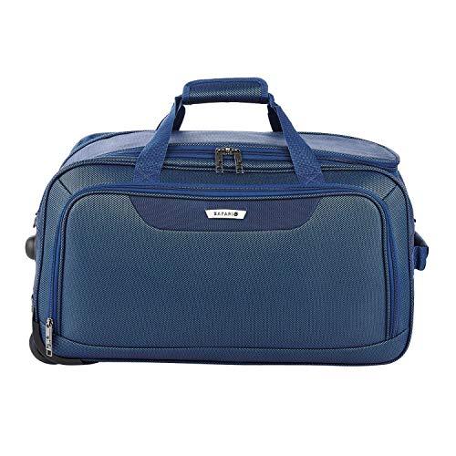 Safari Polyester Stylish Blue Color Rolling Wheel Duffel Travel Bag  Rockies RDFL 55 Blue