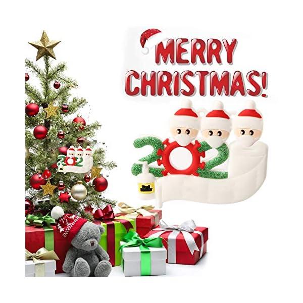 Hbsite Ornamento di Natale Ciondoli di Natale 2020 Quarantena Personalizzata Famiglia Ornamenti per L'Albero di Natale Decorazione Sopravvissuto Regalo Creativo Personalizzato (Famiglia di 3 Persone) 4 spesavip