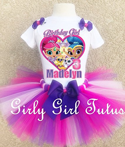 Shimmer and Shine Personalized Birthday Outfit Tutu Set by Girli Girl Tutus