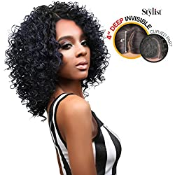 The Stylist Synthetic Lace Front Wig Deep Lace Curved Part Spicy Curl (2)