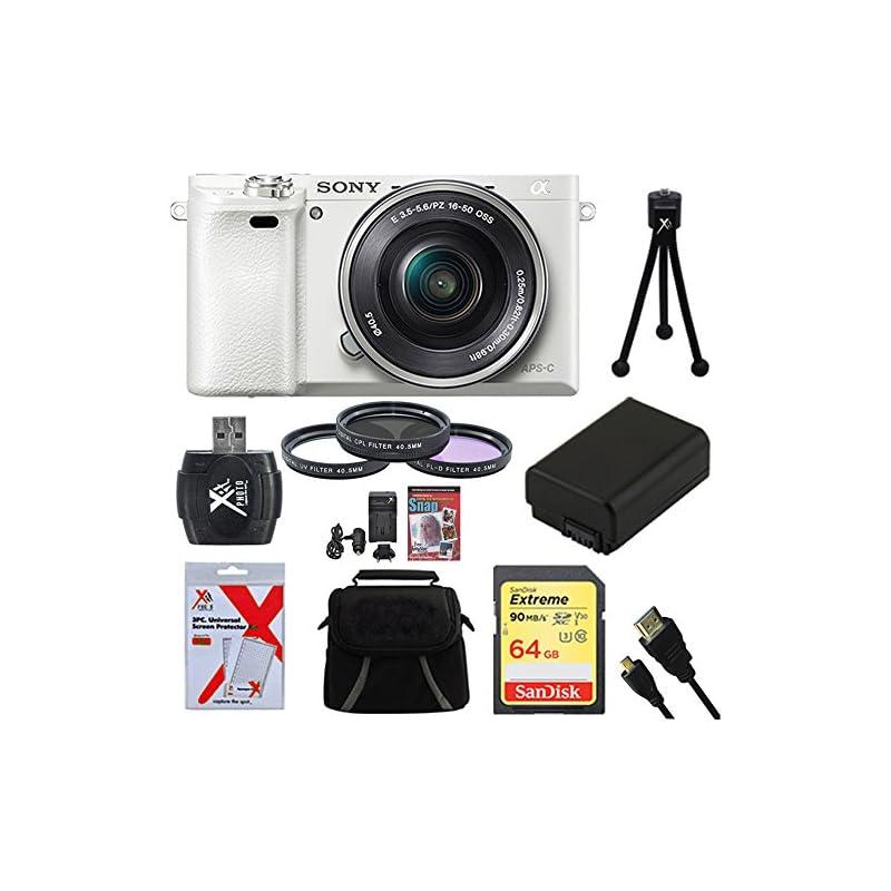 Sony Alpha a6000 White Camera with 16-50