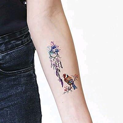 TAFLY - Adhesivos temporales para tatuaje de pájaros y pájaros ...