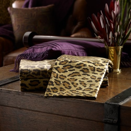 Ralph Lauren Queen Flat Sheet - Lauren by Ralph Lauren New Bohemian Leopard Queen Flat Sheet - Aragon