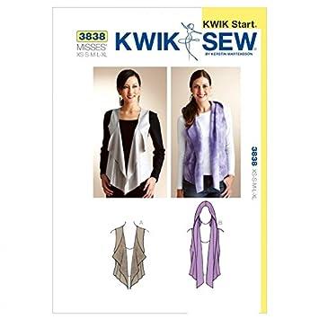 Kwik Sew Damen Schnittmuster 3838 – Weste (O/S): Amazon.de: Küche ...