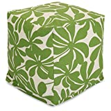 Majestic Home Goods Sage Plantation Indoor/Outdoor Bean Bag Ottoman Pouf Cube 17″ L x 17″ W x 17″ H For Sale