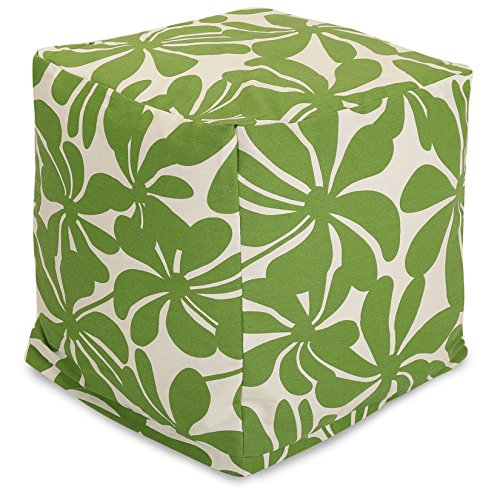 Bean Cube (Majestic Home Goods Plantation Indoor / Outdoor Bean Bag Ottoman Pouf Cube, 17