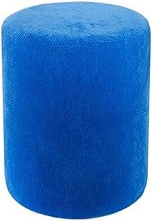 Sgabello Panno in Microfibra Blu Ø34x 44cm