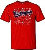 MLB Washington Nationals Team Signed T-Shirt, Large, Red