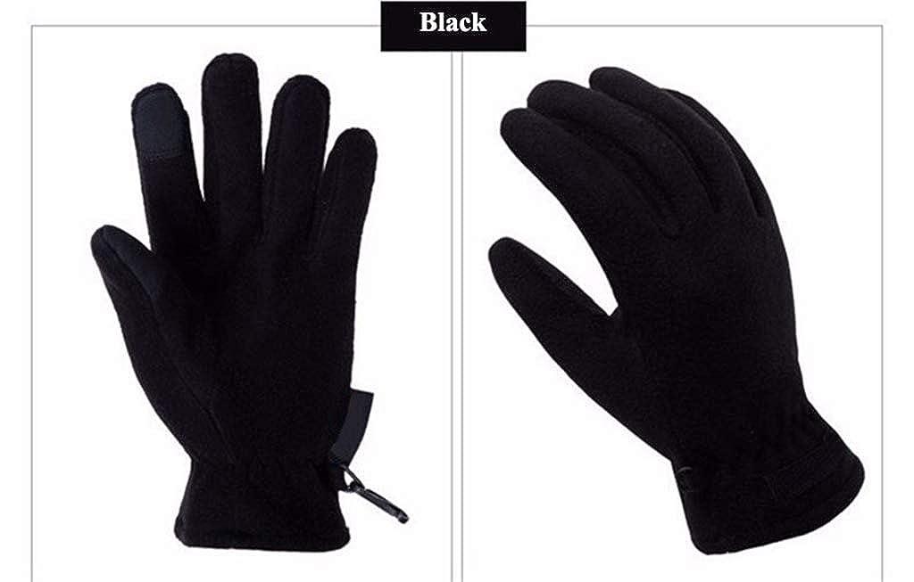 Unisex Cycling Touchscreen Glove Winter Light Fleece Gloves Fleece Windproof Warm Thermal Bike Sports Full Finger