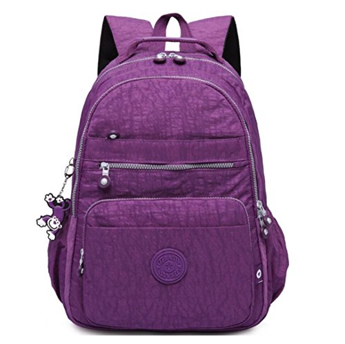 Cute Junior School Book Bag for Lightweight Travel Backpack Waterproof Fashion Ventilated Rucksack Multi-function Strong Computer Laptop Backpack Cycling Hiking Camping Business Outdoor Bag (Purple) (Game Loads Super X-heavy)