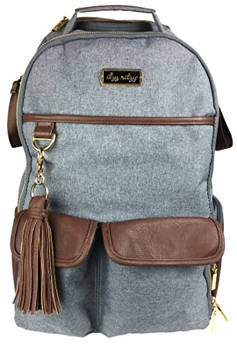 Itzy Ritzy Boss Backpack Diaper Bag, Handsome Heather Gray