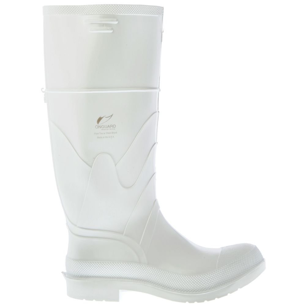 Dunlop 8101113 White PVC Boots, 100% Waterproof PVC, Lightweight and Durable Protective Footwear, Slip-Resistant, Size 13