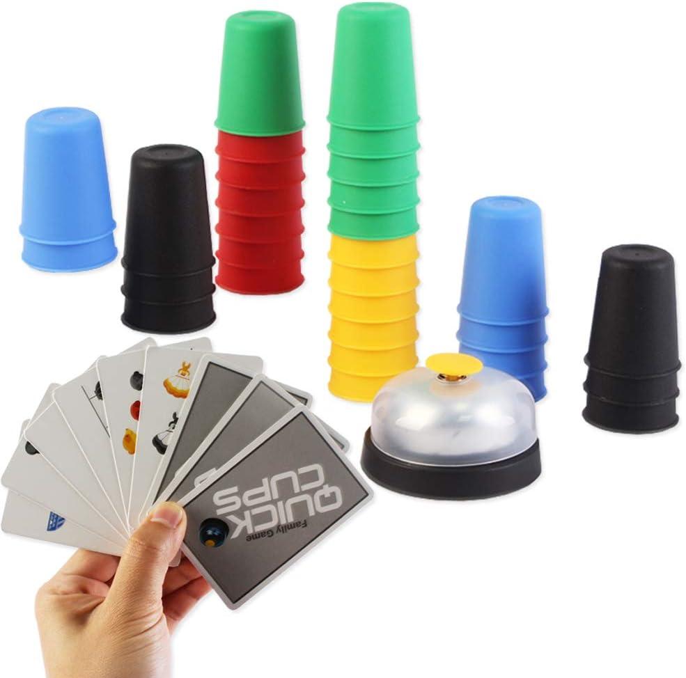 deAO Copas Locas Juego de Vasos para Apilar con Rapidez Agilidad y Destreza Juego de Mesa para la Familia: Amazon.es: Juguetes y juegos