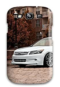 Excellent Design White Honda In Front Of A House Phone Case For Galaxy S3 Premium Tpu Case