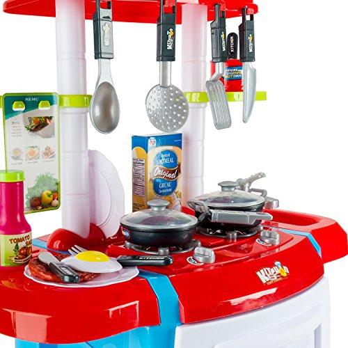 Red Kids Children Fun Home Kitchen Play Set Cooking Play