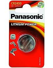 Panasonic Pila a bottone al litio CR2450 (620 mAh, 3 Volt)
