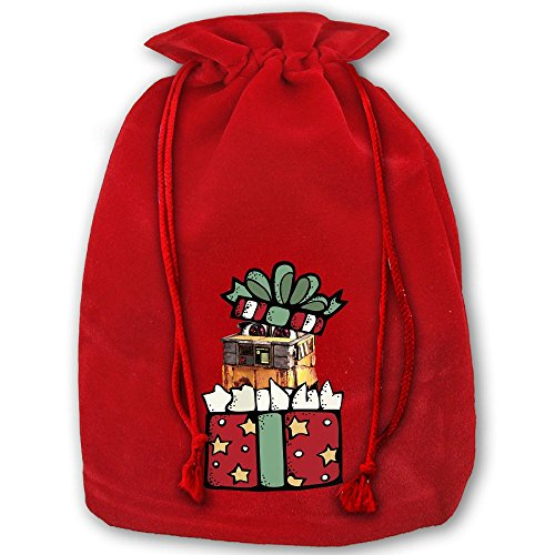 Wall E Halloween Costume (Wall-E Christmas1 Drawstring Christmas Bundle Pocket Made Of Pleuche And Sponge Velvet By Gift Boutique)