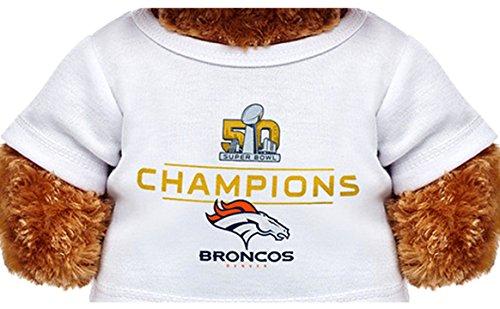 Build a Bear Super Bowl 50 Champions Denver Broncos T-Shirt Teddy Size ()