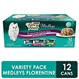 Purina Fancy Feast Gravy Wet Cat Food Variety Pack, Medleys Florentine Collection - (2 Packs of 12) 3 oz. Cans