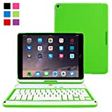 iPad Air 2 360° Rotatable Keyboard Case, Snugg™ - Ultra Slim Keyboard Case with Bluetooth Connectivity & Lifetime Guarantee (Green) For Apple iPad Air 2