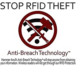 Hammer Anvil RFID Blocking Minimalist Genuine Leather Front Pocket Wallet Black