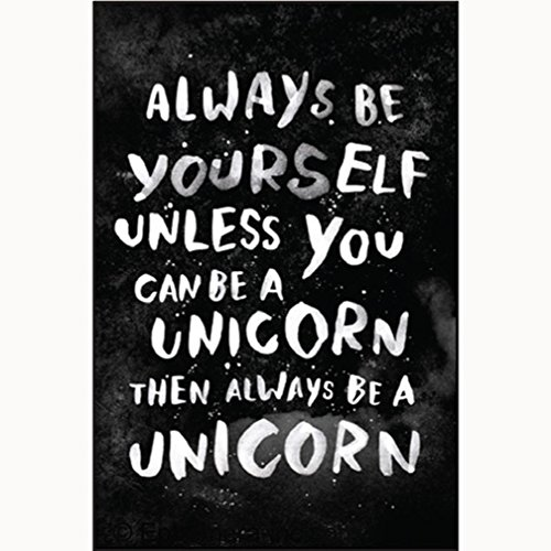 (Always be yourself unless you can be a unicorn then always be a unicorn - RECTANGLE MAGNET)