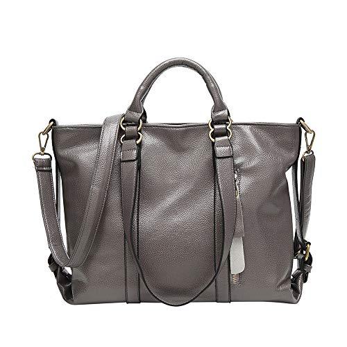 Messenger Shoulder Bag,Women Shoulder Tote Satchel Bag Lady Messenger Purse Top Handle Hobo Handbags Grey