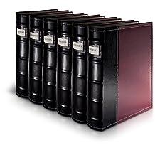 HandStands 11309PACK6 Bellagio-Italia CD-DVD-Blu-Ray Binder Storage System- 6 Pack Burgundy