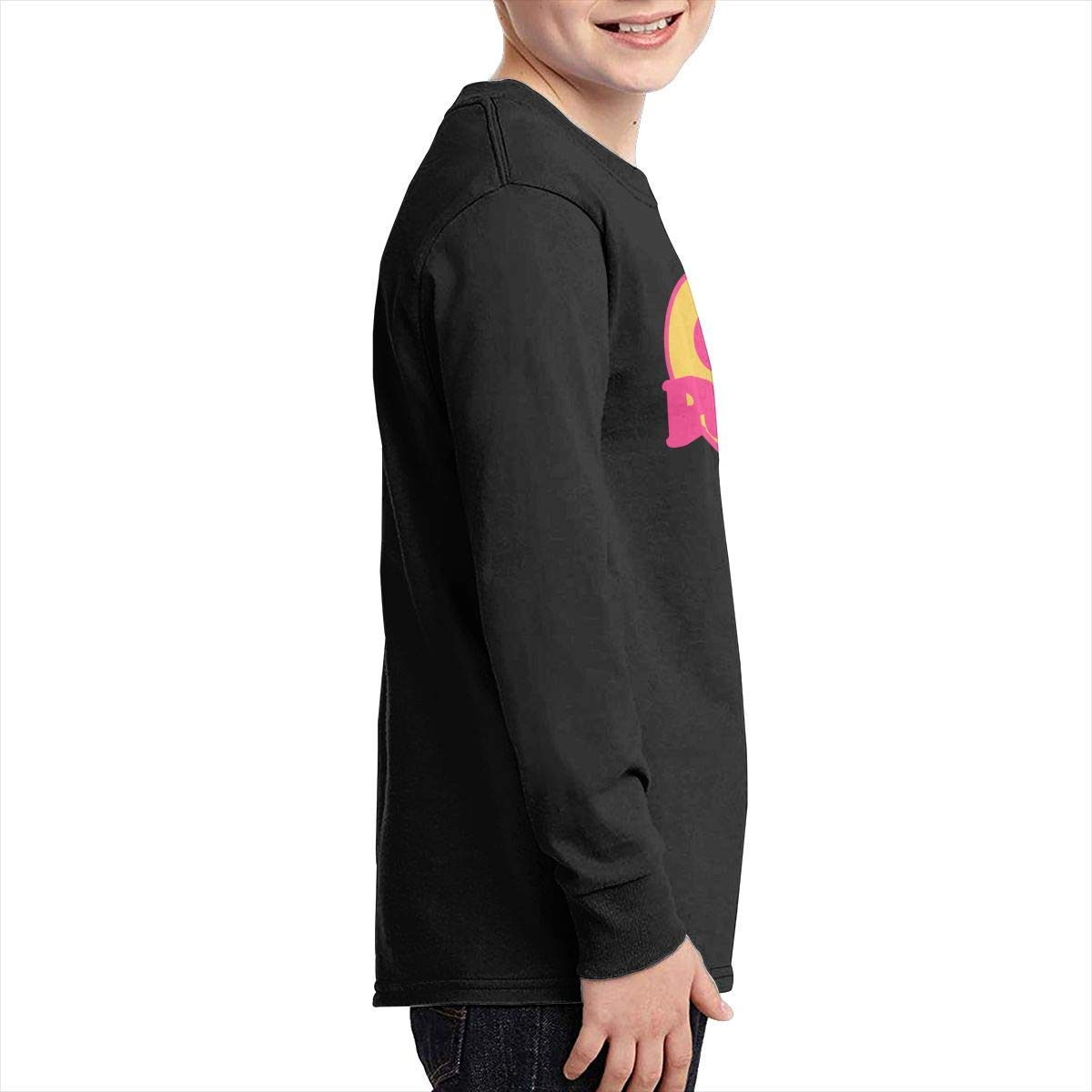 DH-MS Dress Boys Casual Long Sleeve Crew Neck Cotton Girl Power Heart Basic Tee for Youth