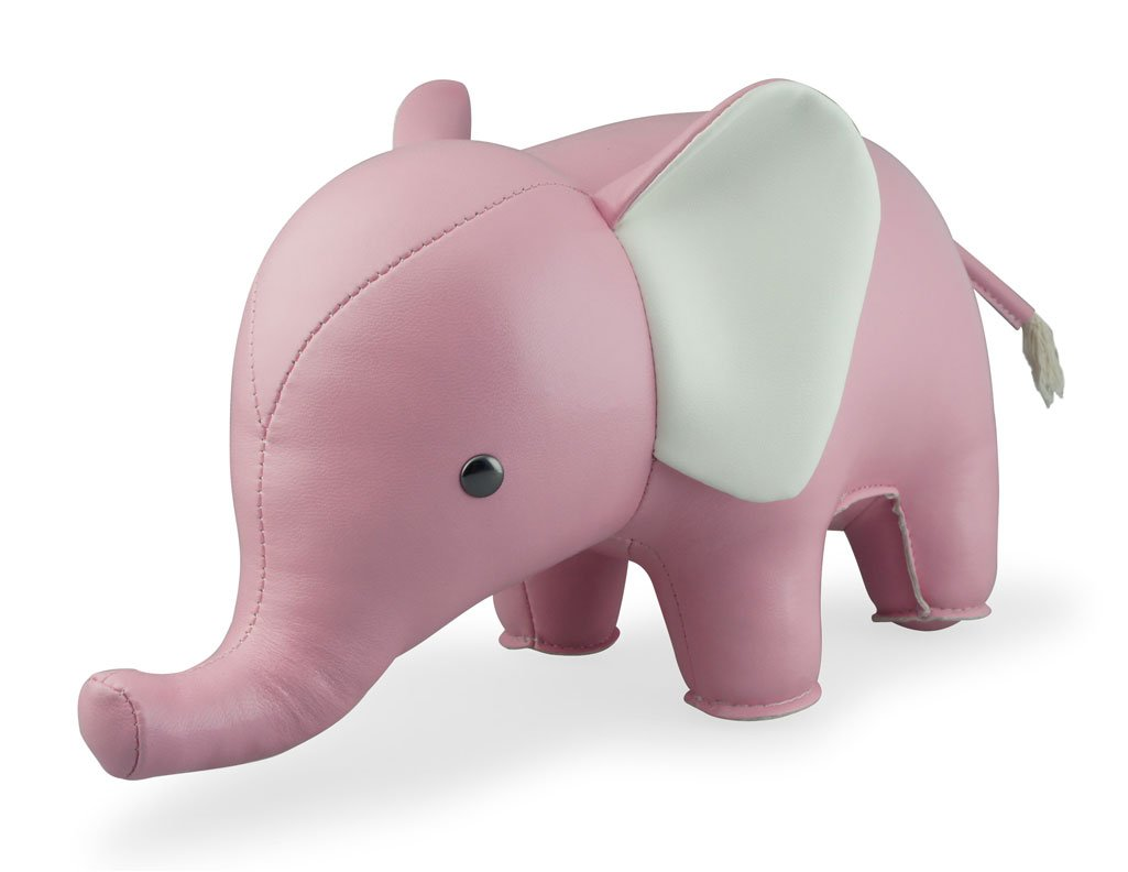 Zuny Classic Series Elephant Pink Animal Bookend