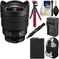 Sony Alpha E-Mount FE 12-24mm f/4.0 G Ultra Wide-Angle Zoom Lens with Backpack + Battery + Charger + Flex Tripod + Kit