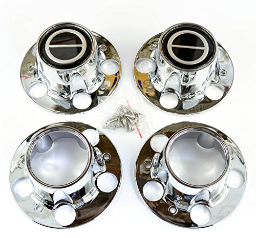 (BB Auto Supply Ford Ranger Bronco II Explorer 4x4 4wd Chrome Wheel Center Caps Black center set of)