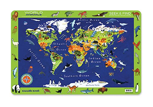 (Crocodile Creek World Animals 2-Sided Placemat)