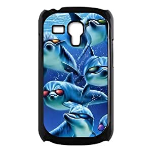 Samsung Galaxy SIII mini i8190 Case,Hipster Dolphins Fashionable Sunglasses High Definition Personalized Design Cover With Hign Quality Hard Plastic Protection Case