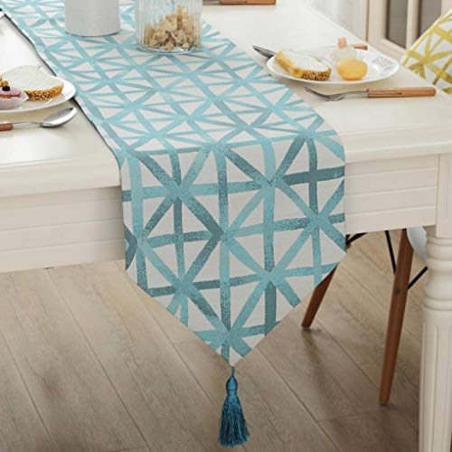 DOCOLA Modern Geometric Table Runner Coffee Tablecloth Table Covers for Wedding Party Decorative Cloth Home Decoration
