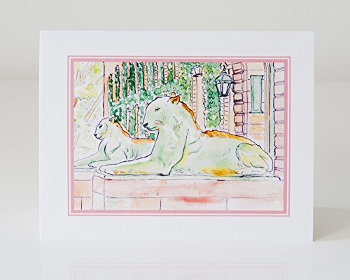 Set of 50 Nassau Hall Tiger Greeting Cards by LAURA ANN