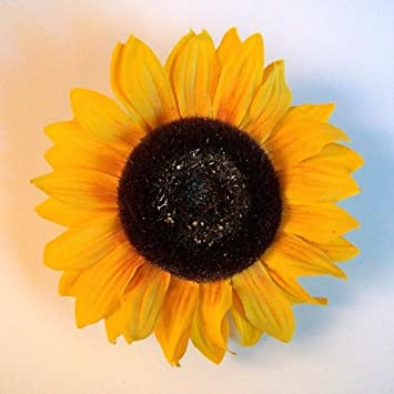 Amazon sunflower artificial flower large hair clippin brooch sunflower artificial flower large hair clippin brooch yellow gold mightylinksfo
