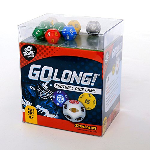 Award winning Dice Game, GoLong! A Football Dice Game - Super Fun Game - Portable, Playing Dice : Perfect For - Travel, Home, Parties, Gifts, Stocking Stuffers -
