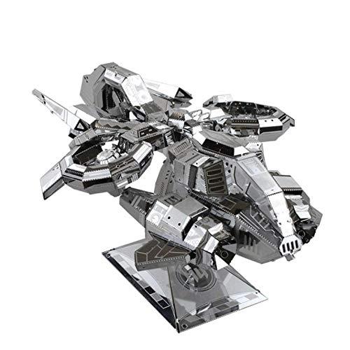 MU 3D Metal Puzzle Terran Banshee Thunderhawk Gunship Building Model Kit DIY 3D Laser Cut Assemble Jigsaw Toys For Audit