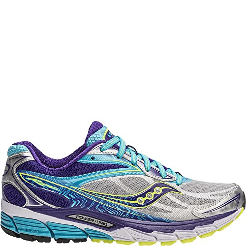 Saucony Ride 8 Narrow Women 7.5 Silver | Purple | Blue (Best Running Shoes For Flat Feet 2015)