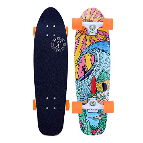 28 inch Complete Mini Cruiser Skateboards, 7 Ply