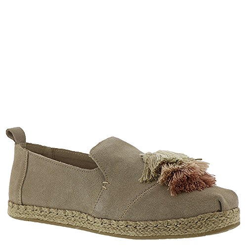 TOMS Women's Deconstructed Alpargata Oxford Tan Suede/Tassel 8.5 M -